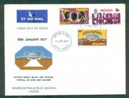Nigeria 1977 Festival Of Arts & Culture (3 Vals.) FDC Lot51608 - Nigeria (1961-...)