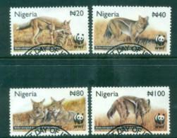 Nigeria 2003 WWF Side-striped Jackal FU Lot81607 - Nigeria (1961-...)