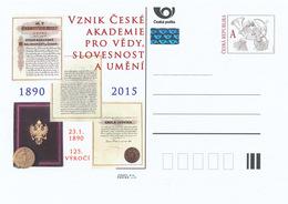 Rep. Ceca / Cart. Postali (Pre2015/01) Nascita Dell'Accademia Ceca Delle Scienze, Della Lingua E Delle Arti (1890) - Idioma