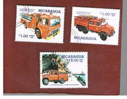 NICARAGUA - SG  2701.2716    -    1985  SINACOI: FIRE SERVICE    -  USED° - Nicaragua