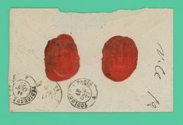 Issoudun - Indre - Enveloppe Avec Ses Cachets De Cire. ANT PIQUET - Oct 1877 - - 1876-1898 Sage (Type II)