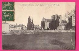CPA (Réf : (PA138) 6. LARUSCADE  (33 GIRONDE) Église Romane Du XI ème Siècle - Autres Communes