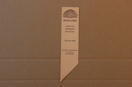 Makaire Librairie, Imprimerie, Papeterie, Aix-en-Provence (Bouches-du-Rhône), Marque-pages - Marque-Pages