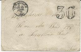 LETTRE 1870 AVEC CACHET  DE NEUF BRISACH - Marcophilie (Lettres)