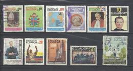Ecuador. Lote De 11 Sellos. Tema Religioso. - Ecuador