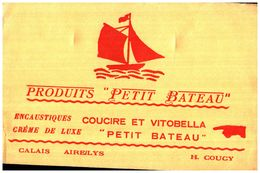 E PB/Buvard Encaustiques Petit Bateau  (Format 14 X 21) (N= 1) - Buvards, Protège-cahiers Illustrés