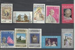 Ecuador. Lote De 10 Sellos. Tema Religioso. - Ecuador