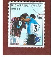 NICARAGUA - SG  2967    -    1988  EUROPEAN  FOOTBALL CAMPIONSHIP            -  USED° - Nicaragua