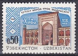 Usbekistan Uzbekistan 1992 Religionen Islam Moscheen Mosque Bauwerke Gebäude Buildings Allakuli-Khan-Medrese, Mi. 4 ** - Usbekistan