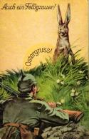 Ostern, 1.WK, Soldat Und Hase, Um 1916 - Easter