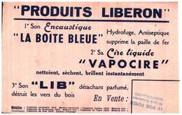 Ci L/Buvard Cire Produit Liberon  (Format 14 X 21) (N= 1) - Buvards, Protège-cahiers Illustrés