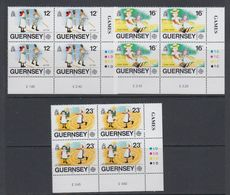 Europa Cept 1989 Guernsey 3v Bl Of 4 (corner) ** Mnh (40632C) - 1989