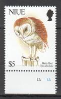 D429 NIUE FAUNA BIRDS BARN OWL !!! MICHEL 22 EURO !!! 1STAMP MNH - Owls