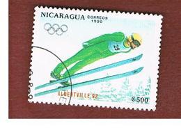 NICARAGUA -  MI 3008    -    1990   WINTER OLYMPIC GAMES ARBERTVILLE '92          -  USED° - Nicaragua