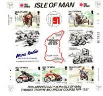 "ILE De MAN - BLOC N° 16 ** (1991) Course Motocycliste ""Tourist Trophy"" - Man (Ile De)"