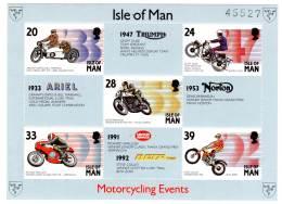 ILE De MAN - BLOC N° 21 ** (1993)  Motocycliste - Man (Ile De)