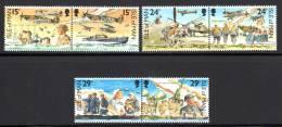 ILE De MAN - N°467/72 ** (1990)  La Bataille D'Angleterre - Man (Ile De)