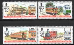 ILE De MAN - N°653/6 ** (1995)  Tramway - Man (Ile De)