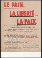 DEPLIANT     LA LIBERTE SOUS LE REGIME  SOVIETS - Documents