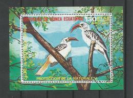 Guinea Equatorial 1976  Birds Of Africa S/S 1 (0) - Birds