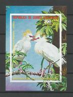 Guinea Equatorial 1976  Birds Of Africa S/S 3 Imperf. (0) - Birds