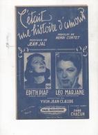 C'ETAIT UNE HISTOIRE D'AMOUR - EDITH PIAF / LEO MARJANNE - 1943 - TABLEAU D'ACCORDS GUITARE - Partitions Musicales Anciennes