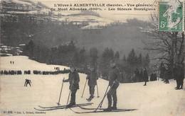 73-ALBERTVILLE- VUE GENERALE DU MONT-ALLONDAS- 800m LES SKIEURS NORVEGIENS - Albertville