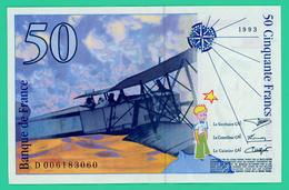 50 Francs -  France -  Saint Exupéry  - N°. D006183060 - 1993 - TB+ - - 1992-2000 Ultima Gama