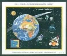 Sao Tome Et Principe 1986 Halley's Comet MS MUH - Sao Tomé E Principe
