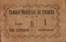 1 CENTAVO 2ª. SÉRIE CÂMARA MUNICIPAL DE CORUCHE - Portugal