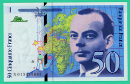 50 Francs -  France -  Saint Exupéry  - N°. N015997685 - 1994 - TB+ - - 1992-2000 Laatste Reeks