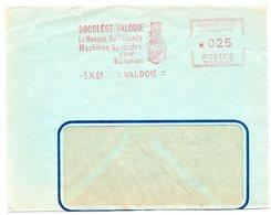 TERRITOIRE De BELFORT - Dépt N° 90 = VALDOIE 1961 = EMA Illustrée  / FLAMME ROUGE = SOCOLEST / Machines Pour SCIERIES - Marcophilie (Lettres)