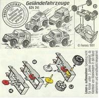 KINDER GELÄNDEFAHRZEUGE BPZ  624241 D 1991 - Instructions