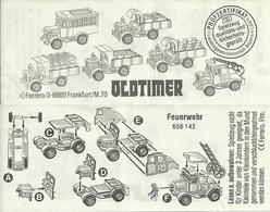 KINDER ALLEMAND OLDTIMER LKW Feuerwehr BPZ 656143 - Notices