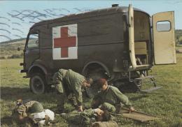Santé - Ambulance Militaire - Automobile - Parachute - Health