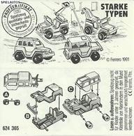 KINDER STARKE TYPEN D 1991 BPZ 624365 - Instructions