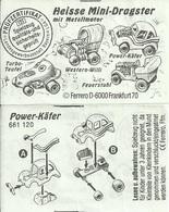 KINDER ALLEMAND HEISSE MINI DRAGSTER MIT METALLMOTOR D 1992 Power Käfer BPZ 661120 - Notices