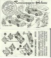 KINDER RENNWAGEN SCHAU D 1991 Porsche 962C BPZ 619221 - Instructions