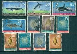 Senegal 1972 Marine Life Asst FU Lot73523 - Senegal (1960-...)