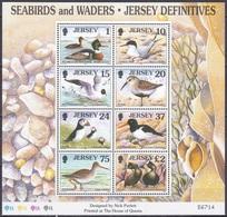 Jersey 1997 Tiere Fauna Animals Vögel Birds Oiseaux Aves Uccelli Seevögel Seabirds Watvögel Waders, Bl. 15 ** - Jersey