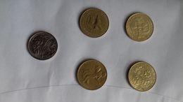 ITALIA- MONETE LOTTO IT 3- PEZZI N.5 -1981/1996 - Italia