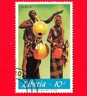 LIBERIA - Nuovo Obliterato - 1967 - Musica - Strumenti Musicali - Alimilin - 10 - Liberia