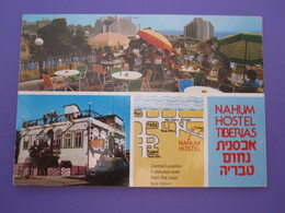 ISRAEL PALESTINE TIBERIAS GALILEE SEA LAKE PICTURE POSTCARD PHOTO POST CARD PC STAMP NAHUM HOSTEL - Israel