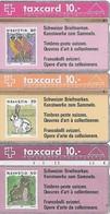 PTT: P11 12 15 201C 202A 201D Schweizer Briefmarken - Schweiz