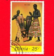 LIBERIA - Nuovo Obliterato - 1967 - Musica - Strumenti Musicali - Tom Toms - 25 - Liberia