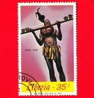 LIBERIA - Nuovo Obliterato - 1967 - Musica - Strumenti Musicali - Large Harp - 35 - Liberia
