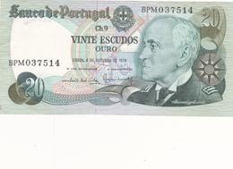 Portugal - Nota De 20$00 Almirante Gago Coutinho - Portugal