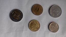 ITALIA- MONETE LOTTO IT 1- PEZZI N.5 -1974/1996 - Italia