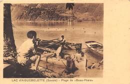 73-AIGUEBELETTE- LAC D'AIGUEBELETTE, PLAGE DE BEAU PHARE - Autres Communes
