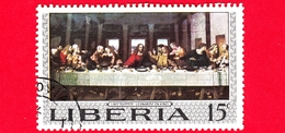 LIBERIA - Usato - 1969 - Arte - Dipinto Di Leonardo Da Vinci - Ultima Cena - Last Supper - 15 - Liberia